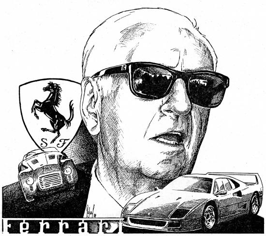 Portrait De Enzo Ferrari Par Pastis Sur Stars Portraits